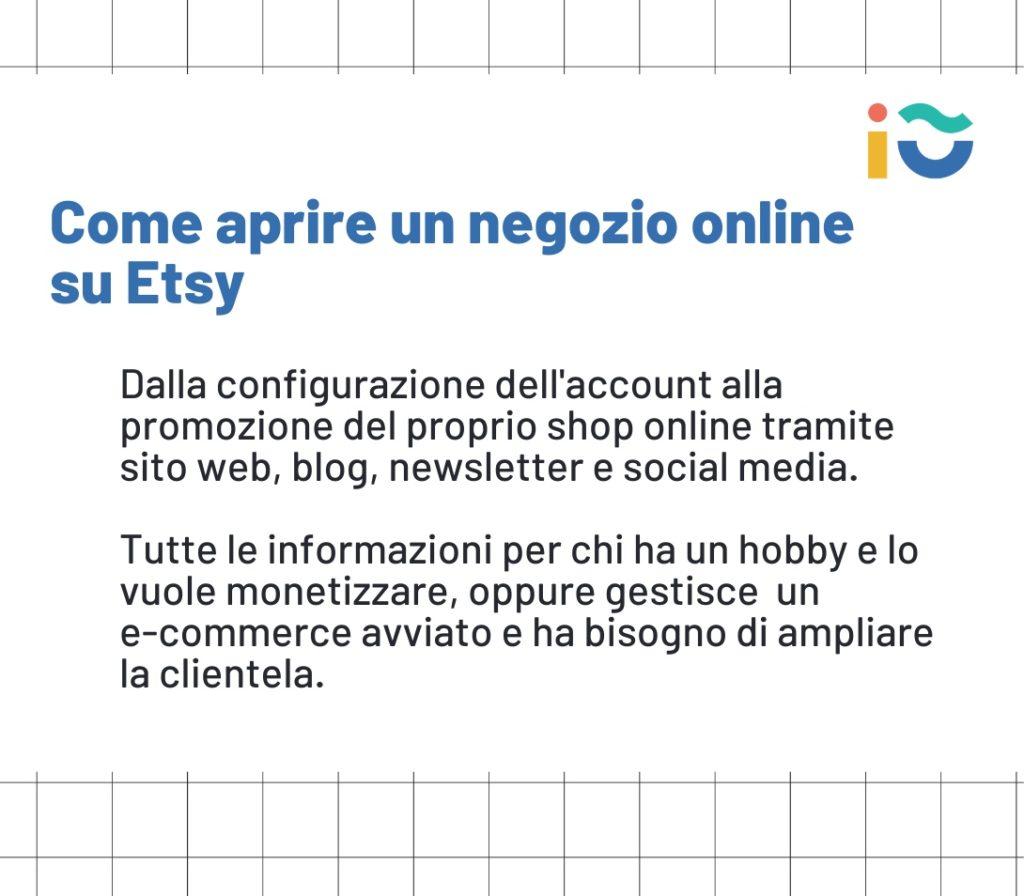Aprire un negozio online su Etsy: guida completa per e-commerce e per appassionati.