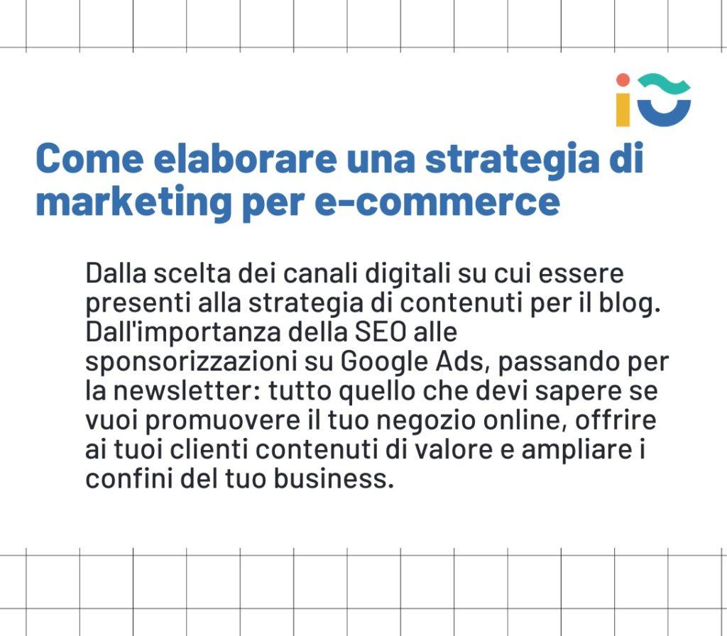Come impostare una strategia di marketing per ecommerce.